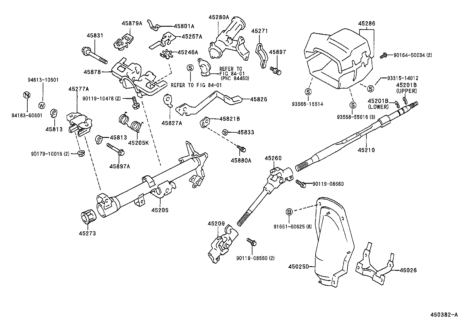 toyota steering column diagram  toyota  auto parts catalog