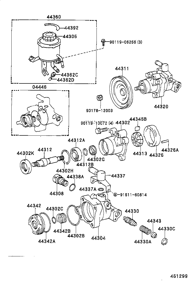 2005 tacoma steering diagram