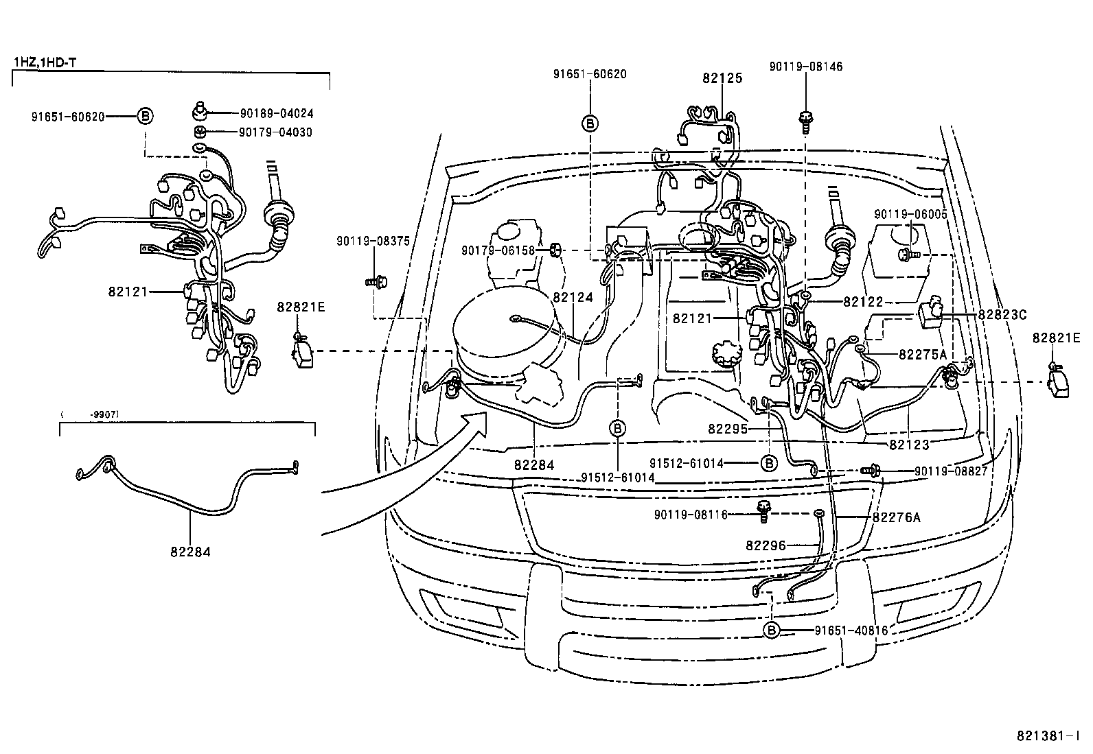 toyota land cruiser 100hdj100l-gnpex - electrical