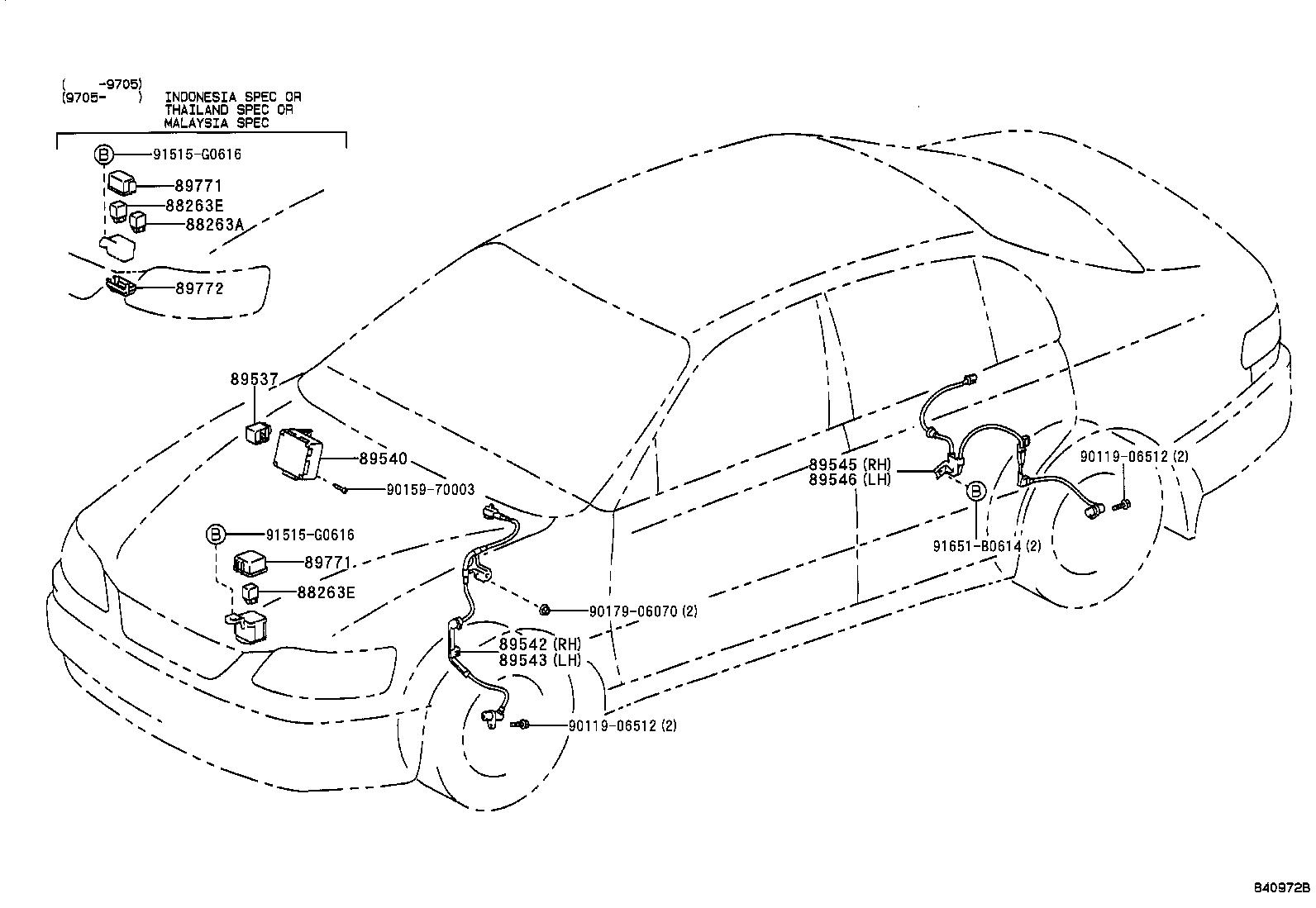 toyota corollaae111r-gemeke - electrical