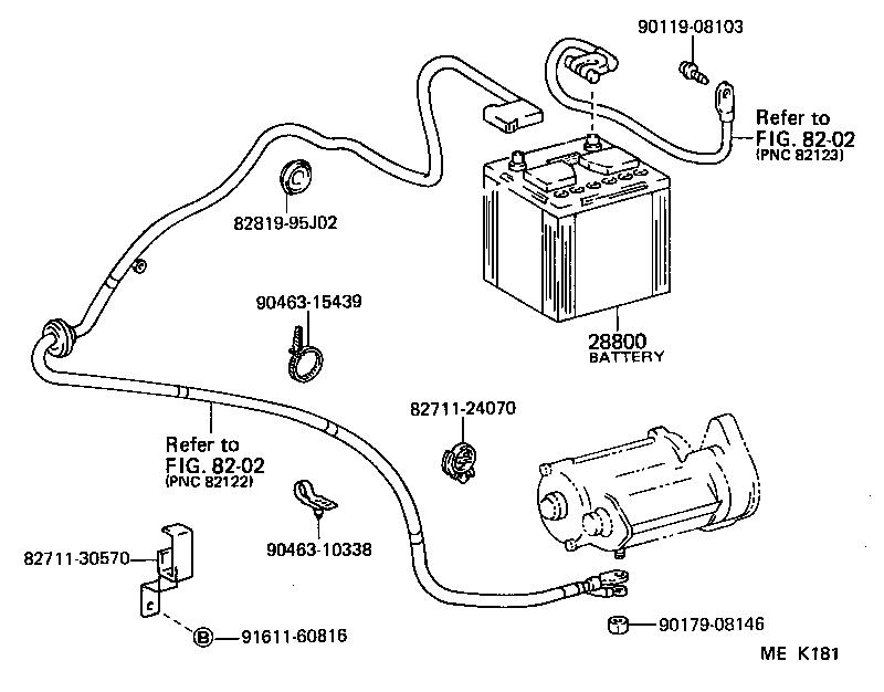 1986 toyota van battery location