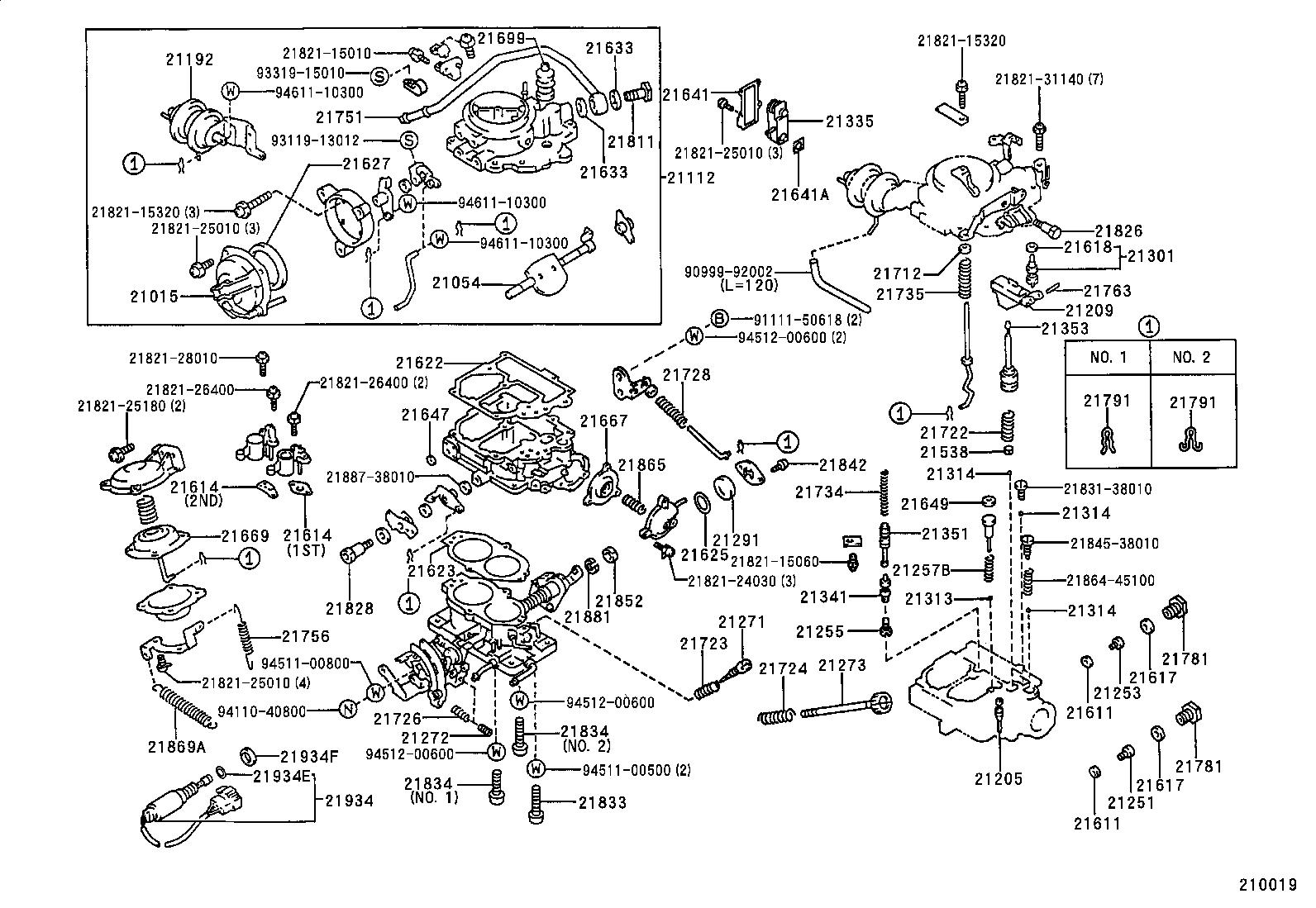 toyota corollaae101l-aehdu - tool-engine-fuel