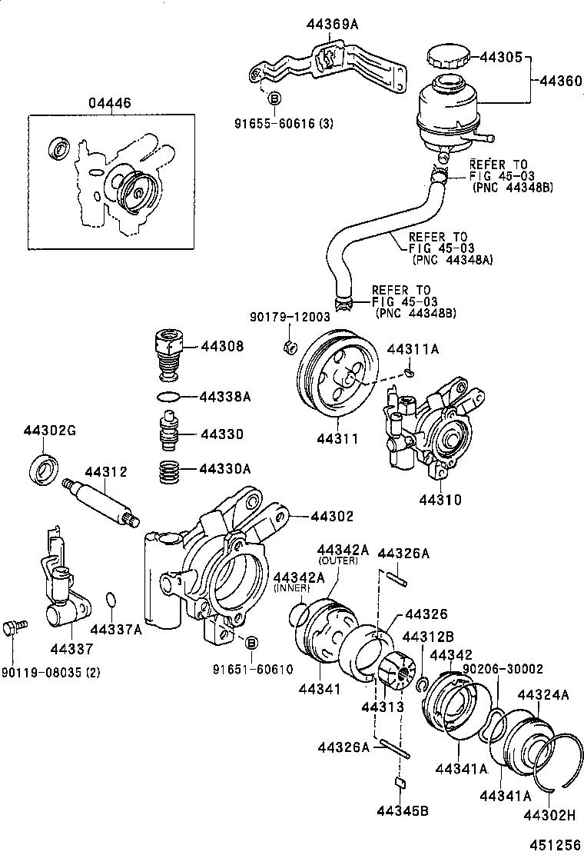 toyota starletep82 ahknk powertrain chassis vane pump reservoir Power Steering Assembly Diagram register