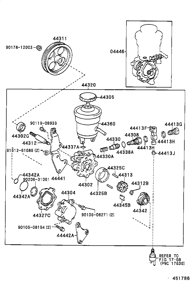 power steering diagram for 1998 toyota camry  power  free