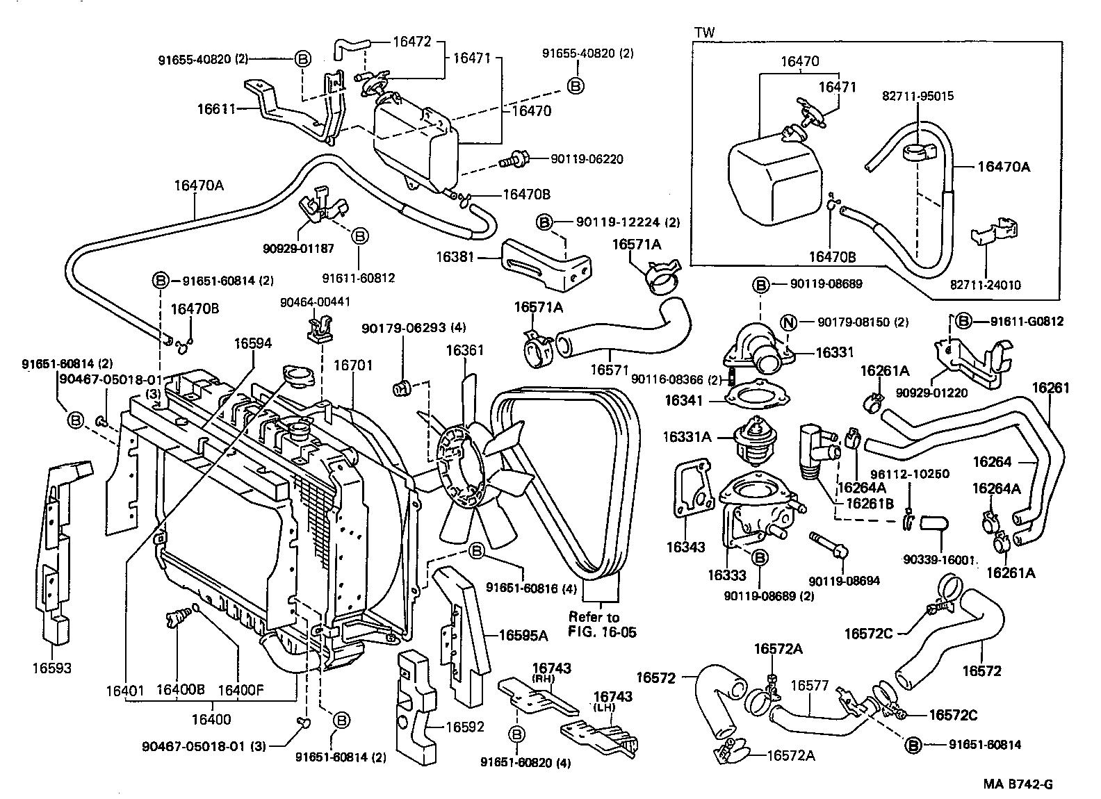 toyota dyna 100lh80r-mdb - tool-engine-fuel