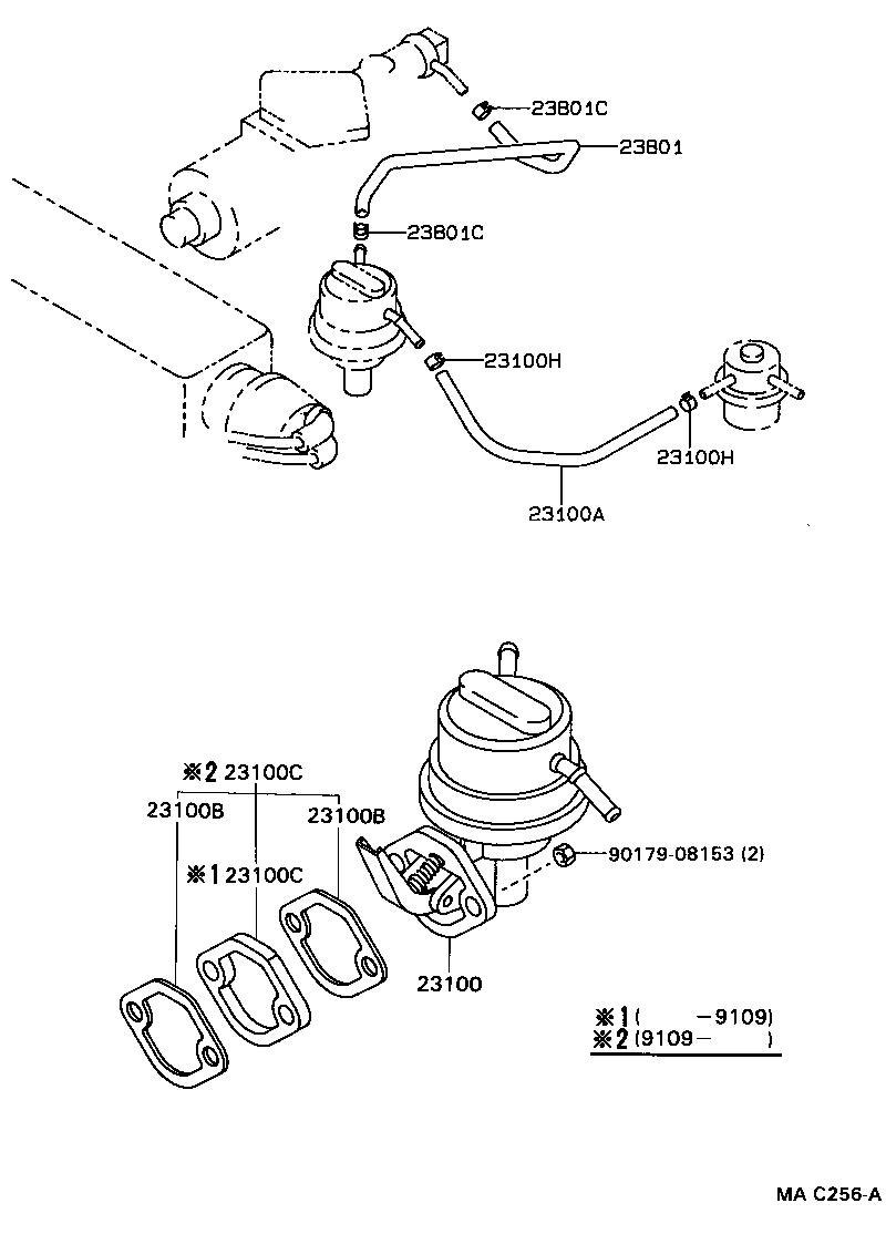 toyota corollaee90l-ahmds - tool-engine-fuel