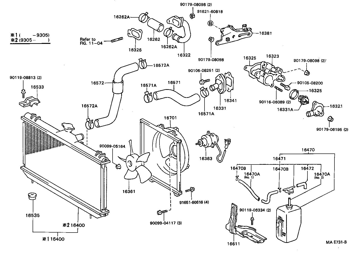 toyota corollaae101-acmzf - tool-engine-fuel