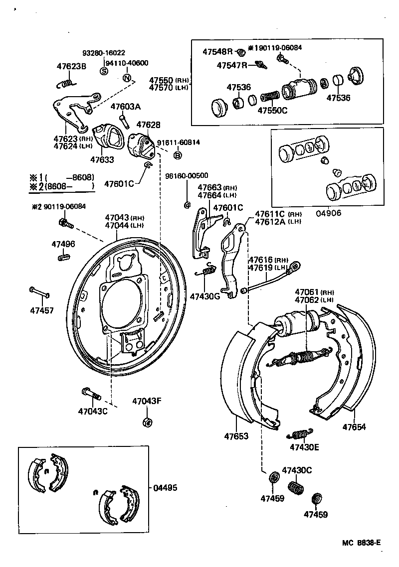 service manual  1997 toyota 4runner brake replacement