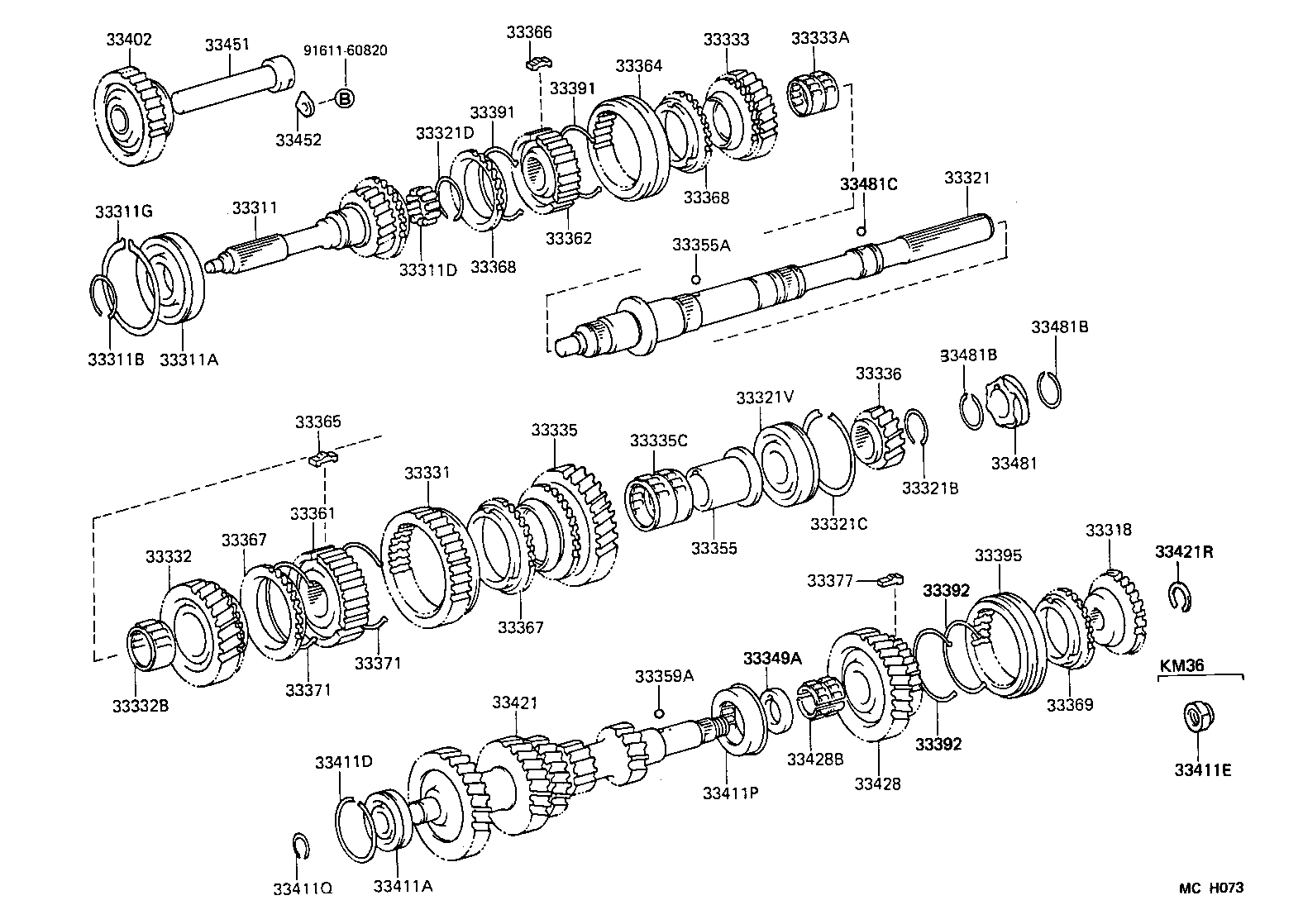 toyota liteacekm30lg-mds - powertrain-chassis