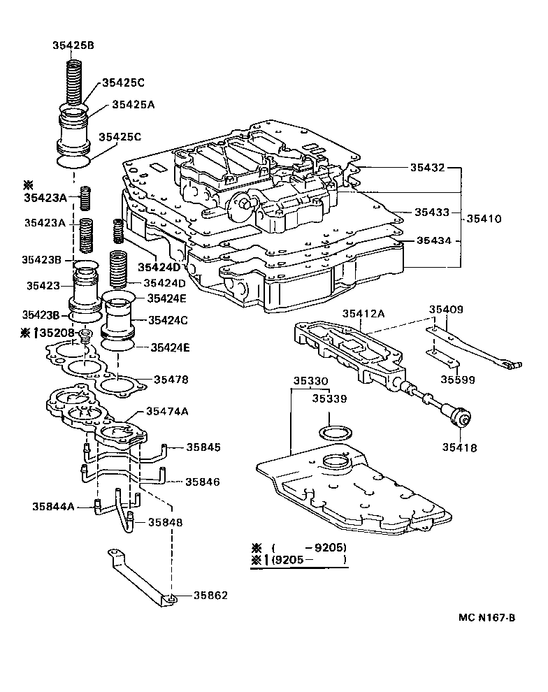 toyota corollaae101l-aehdu - powertrain-chassis