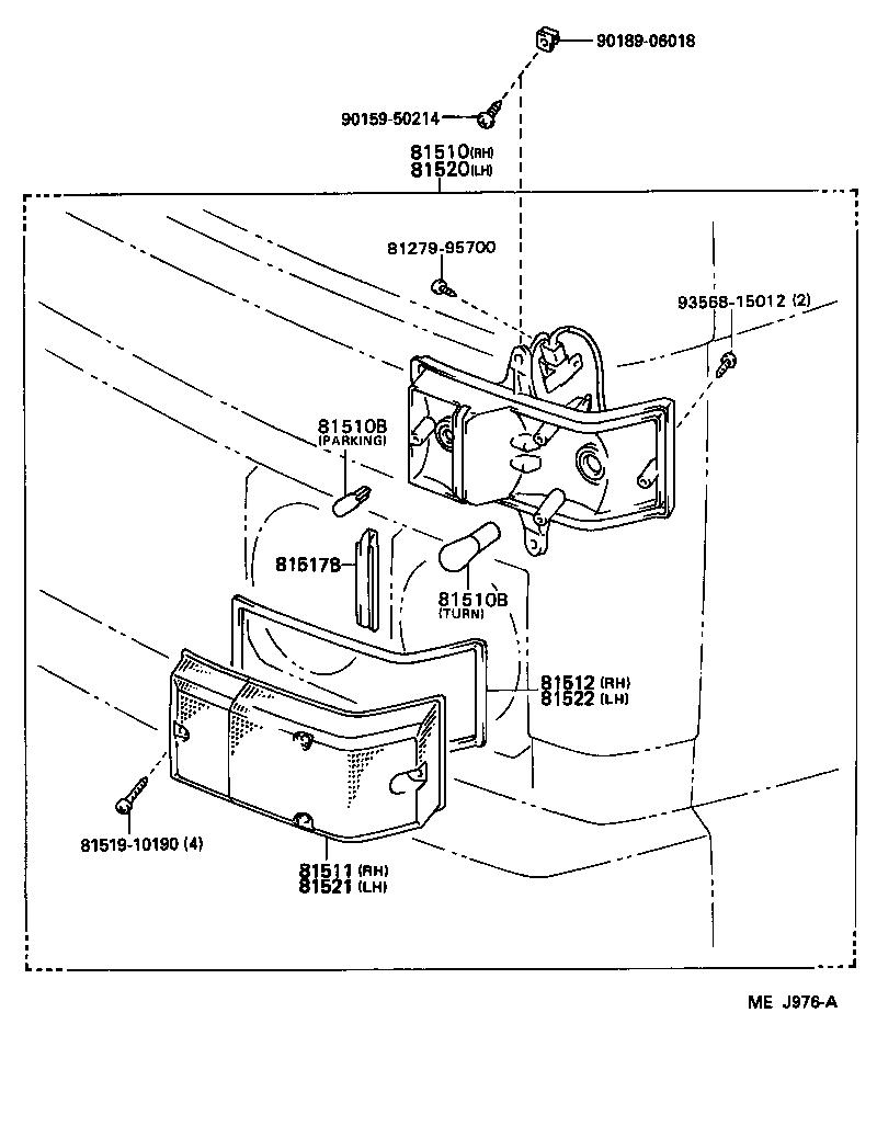 toyota dyna 150yy61r-mdb - electrical