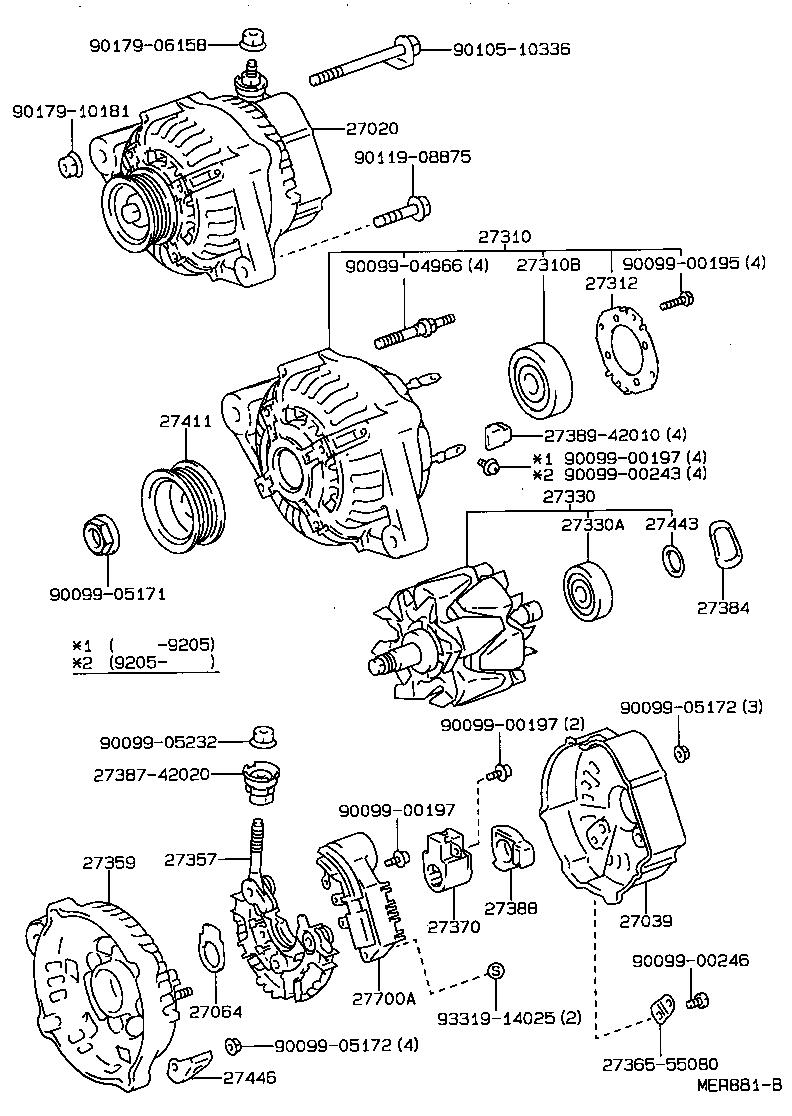 toyota corollaae101r-alpnk - tool-engine-fuel