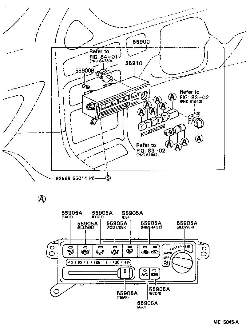toyota corollaae101-acmzf - electrical