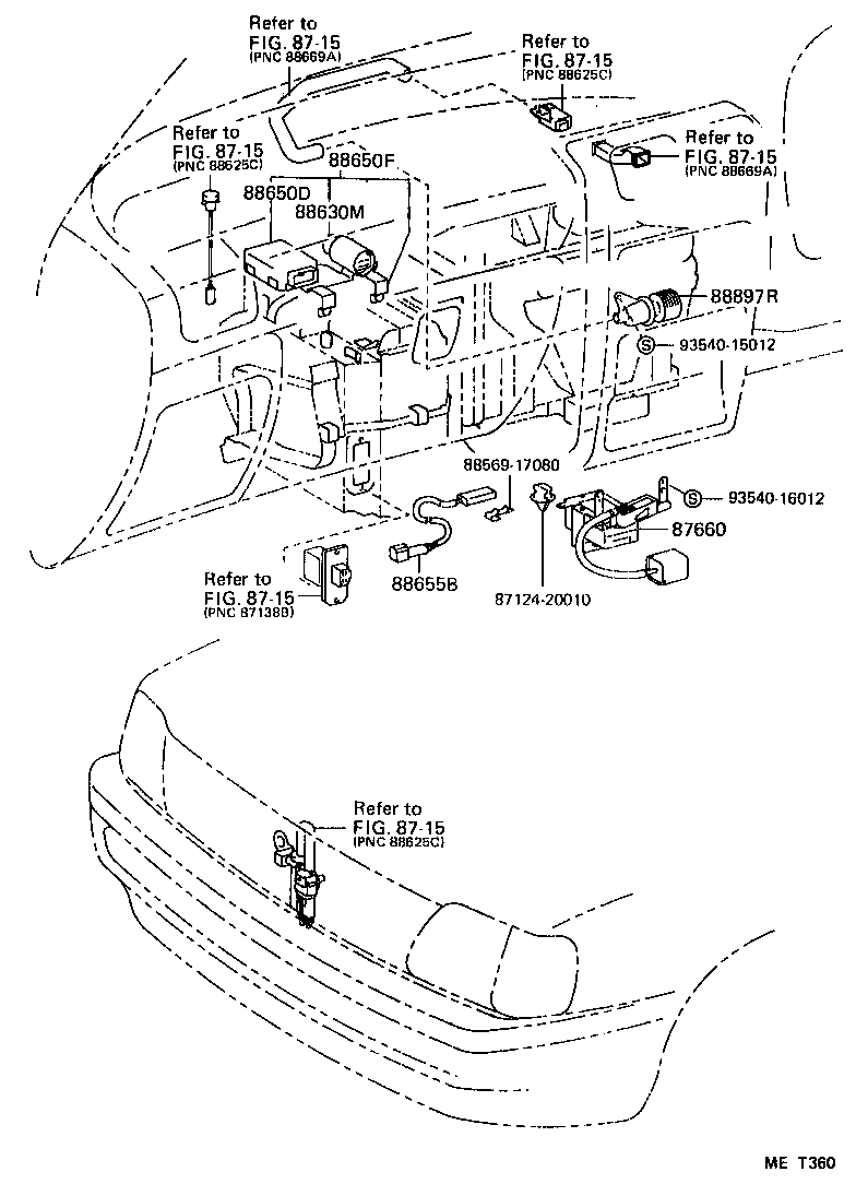 Toyota Corolla Axle Diagram as well Hyundai Trajet Auto Light Control Module Wiring System also Toyota Sienna Ac Not Workingblowing Warm Air Rear Line Failure as well Toyota Solara Radio Wiring Diagram together with Xrs. on 2005 toyota matrix rear suspension diagram