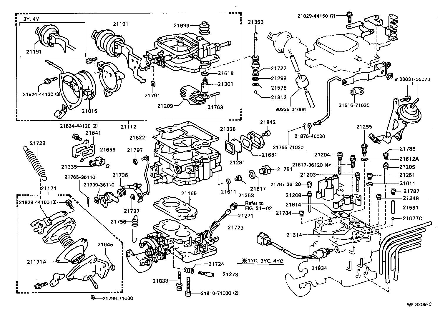 toyota avalon engine parts diagram toyota engine parts diagram ma47 #11