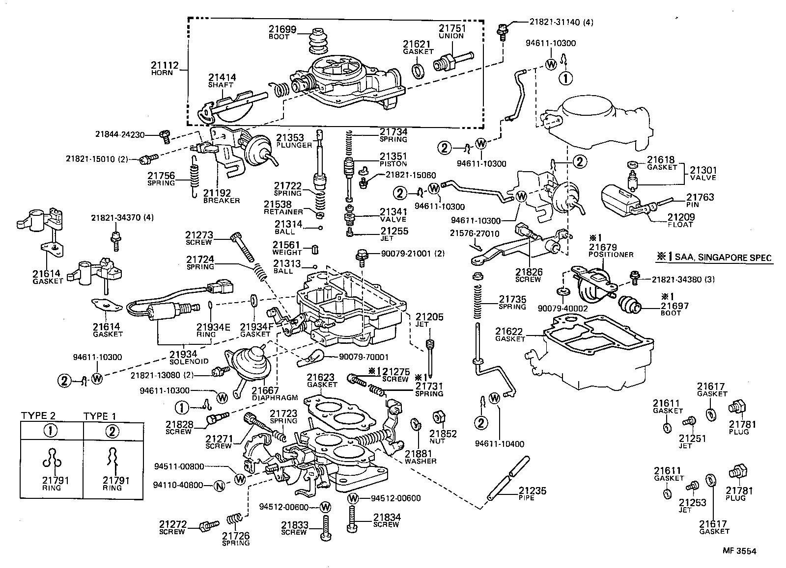 toyota corollaee80l-elhds - tool-engine-fuel