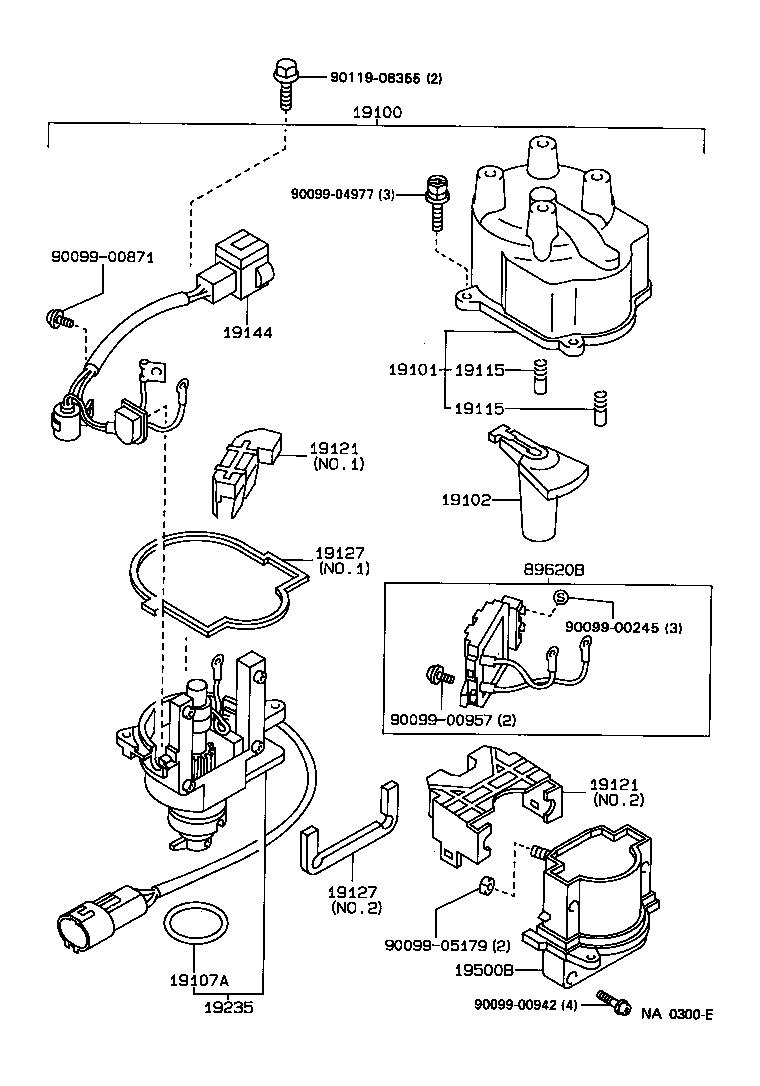 1993 toyota corolla distributor diagram  toyota  auto