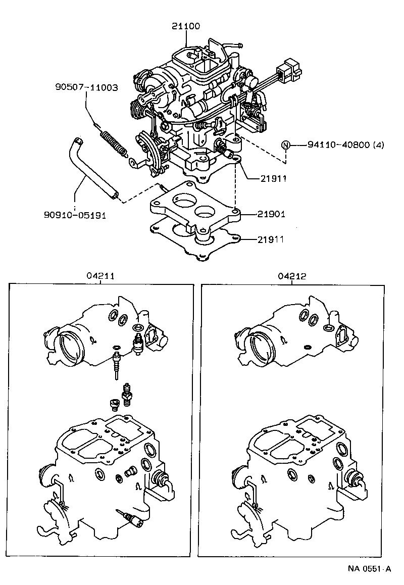 toyota corona carina 2st171l-aepnuv - tool-engine-fuel