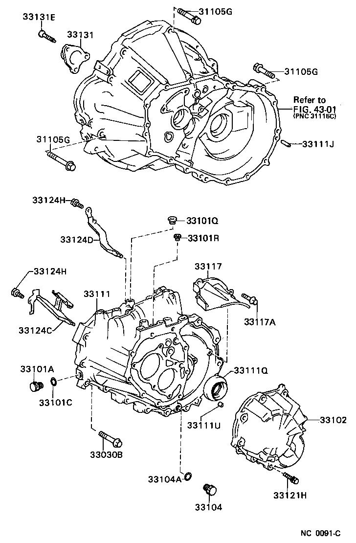 toyota corollaae92r-aemvfn - powertrain-chassis