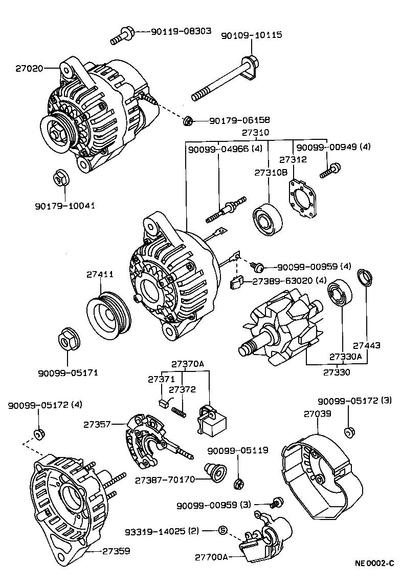 toyota corollaae95r-cwmdkq - tool-engine-fuel