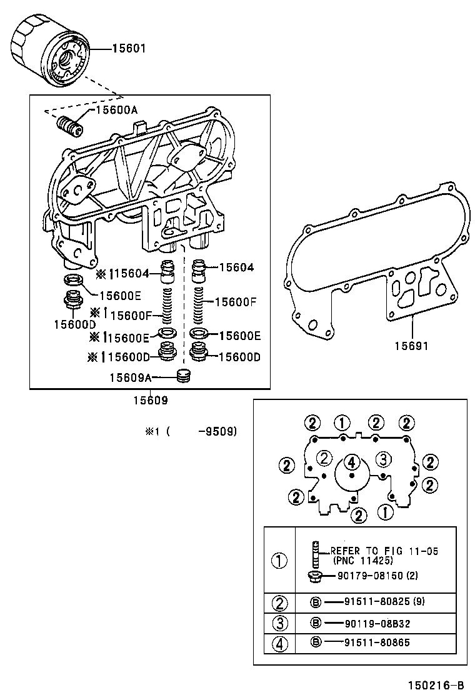 toyota hilux 4runner 4wdln106r-prmdsq - tool-engine-fuel