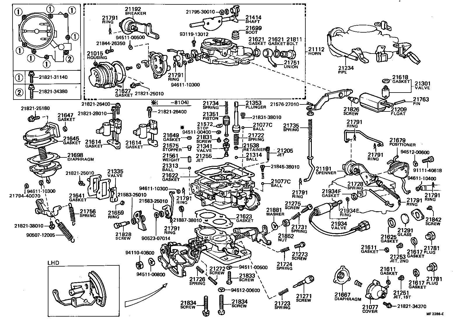 toyota corollate71rg-ewkrs - tool-engine-fuel