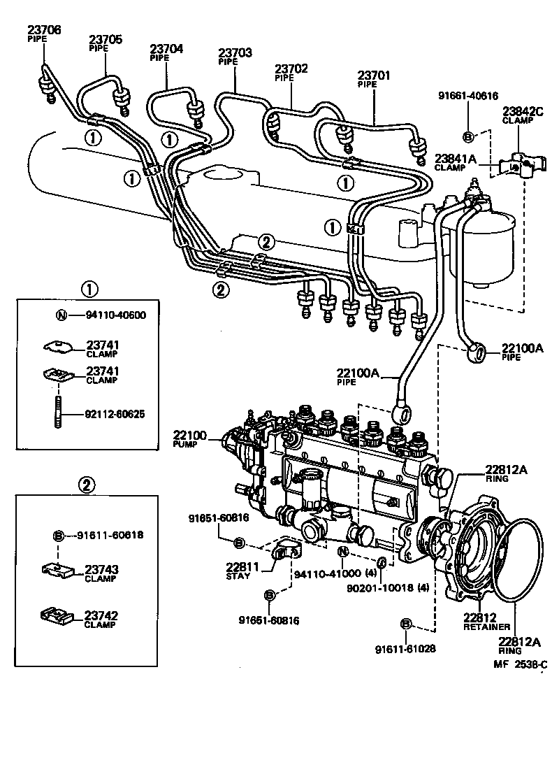 2000 toyota land cruiser engine diagram