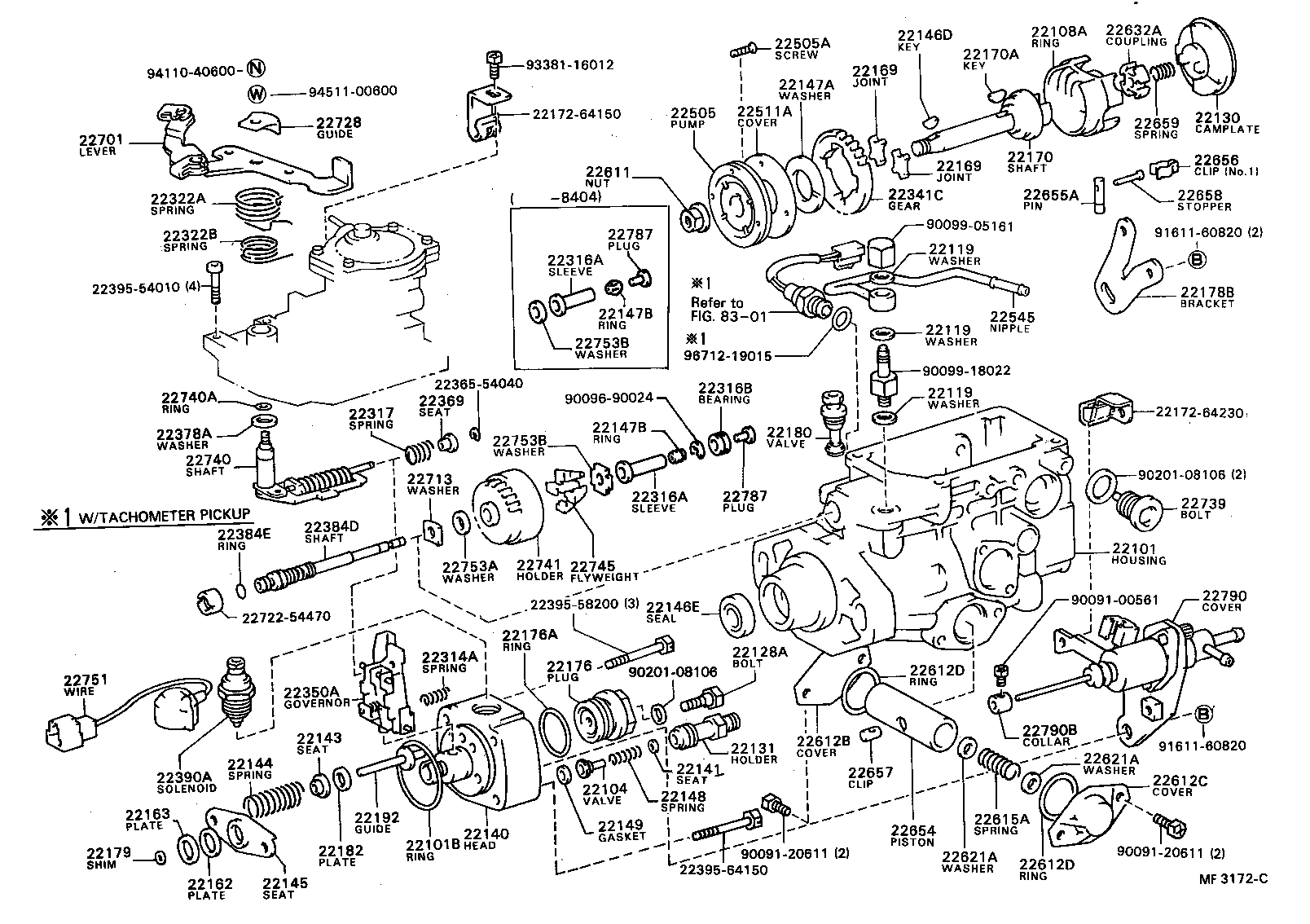 Mf C on 1996 Toyota Camry Parts Diagram