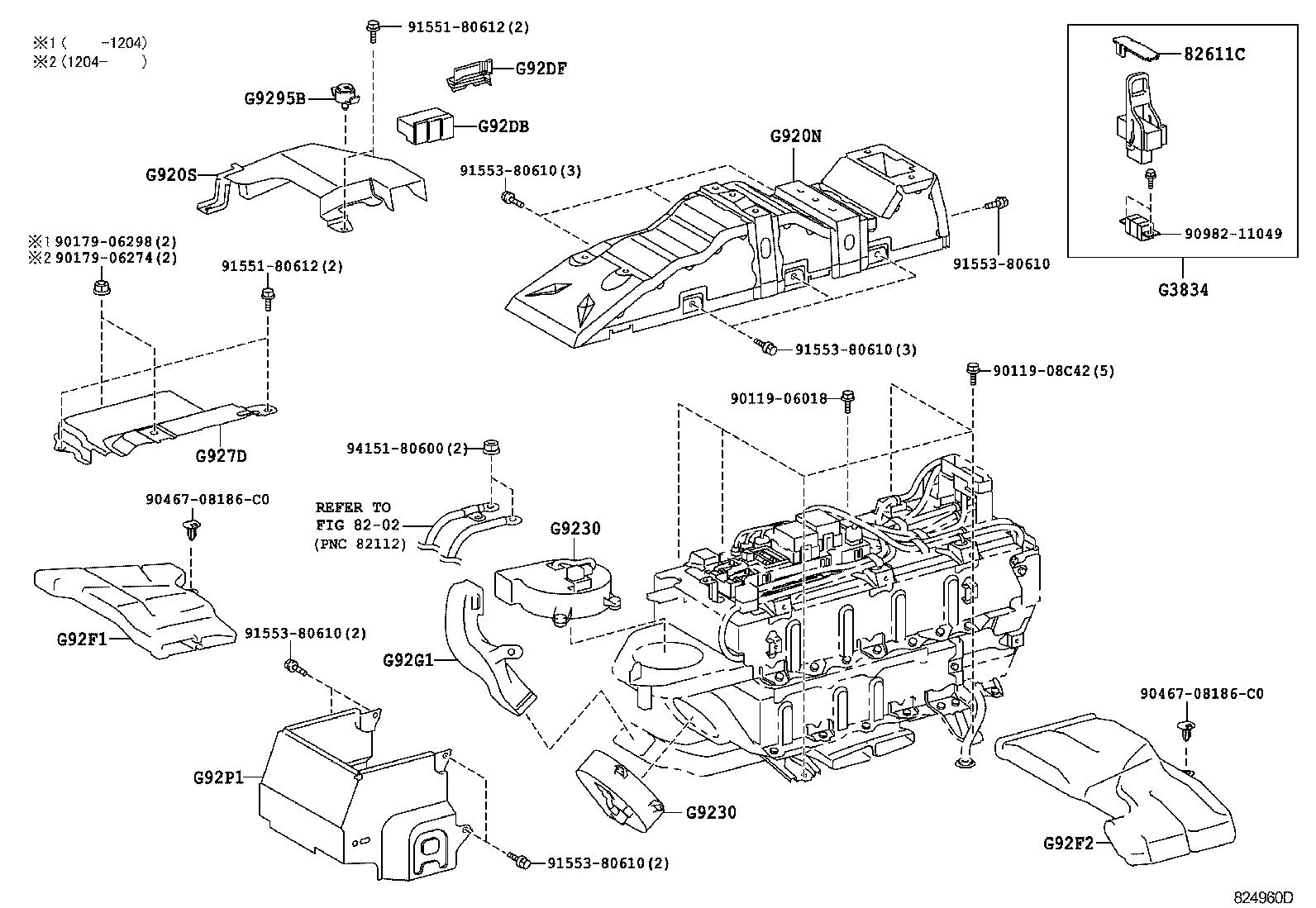 toyota estima hybridahr20w-gfxeb - electrical