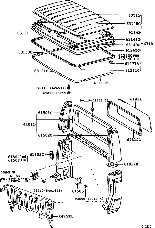 Toyota Land Cruiser 70hzj75 Mru3 Body Roof Panel Back 1973 Parts 70