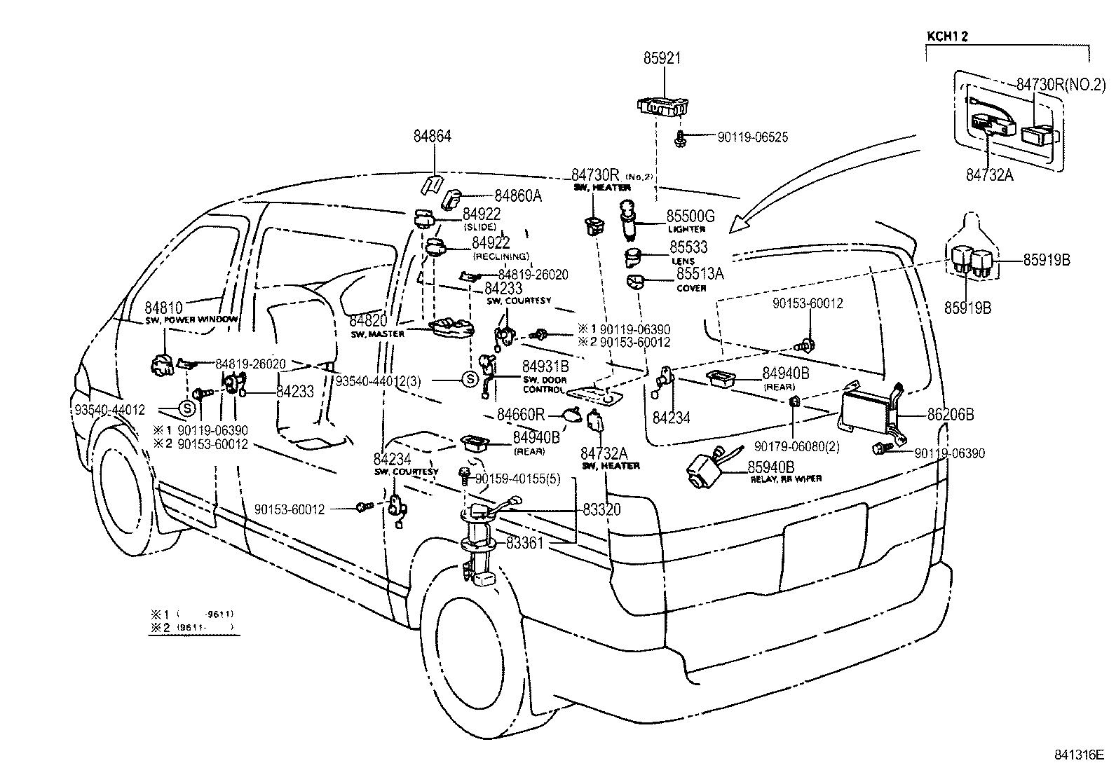 Toyota Granvia Grand Hiacekch10w Grsgt Electrical Switch Relay Wiring Diagram Hiace Computer
