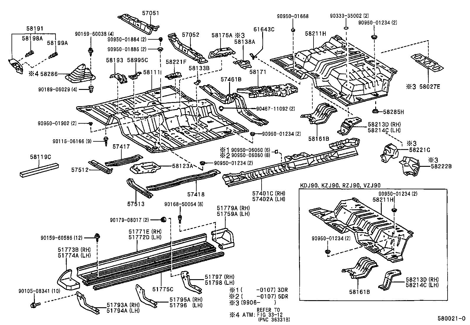 toyota land cruiser pradovzj95w-gkpgk - body
