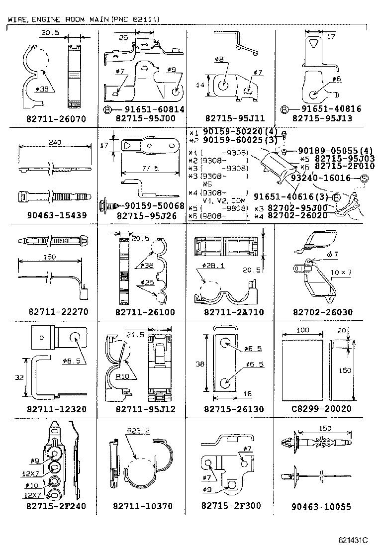 Toyota Hiace Regiusacelh119v Rhmds Electrical Wiring Clamp Diagram Std Part