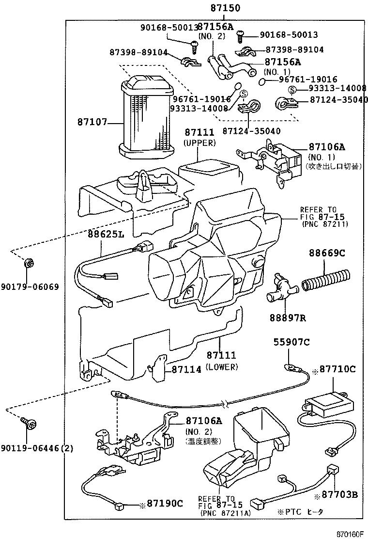 Toyota Land Cruiser Pradorzj90w Gjpsk Electrical Heating Air 1975 Wiring Diagram Std Part