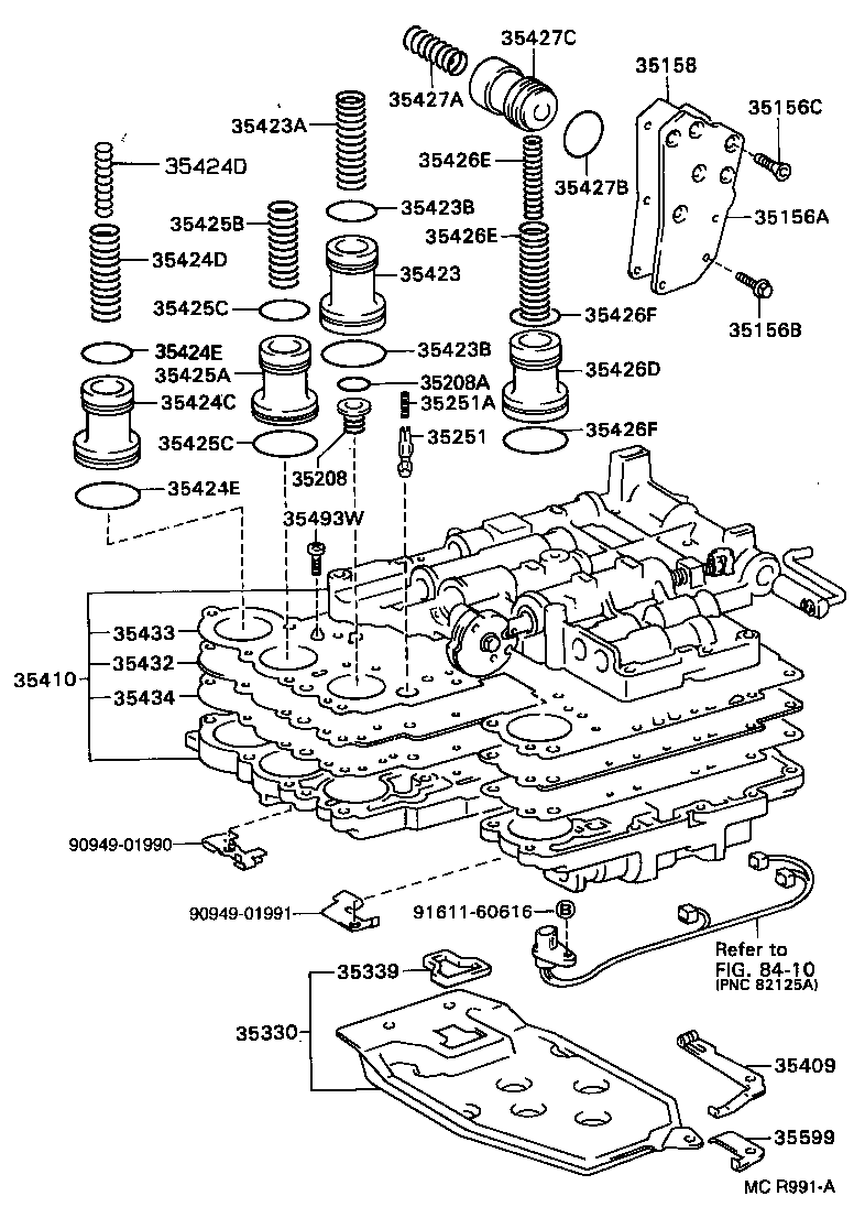 toyota coronaat190-cepmk - powertrain-chassis