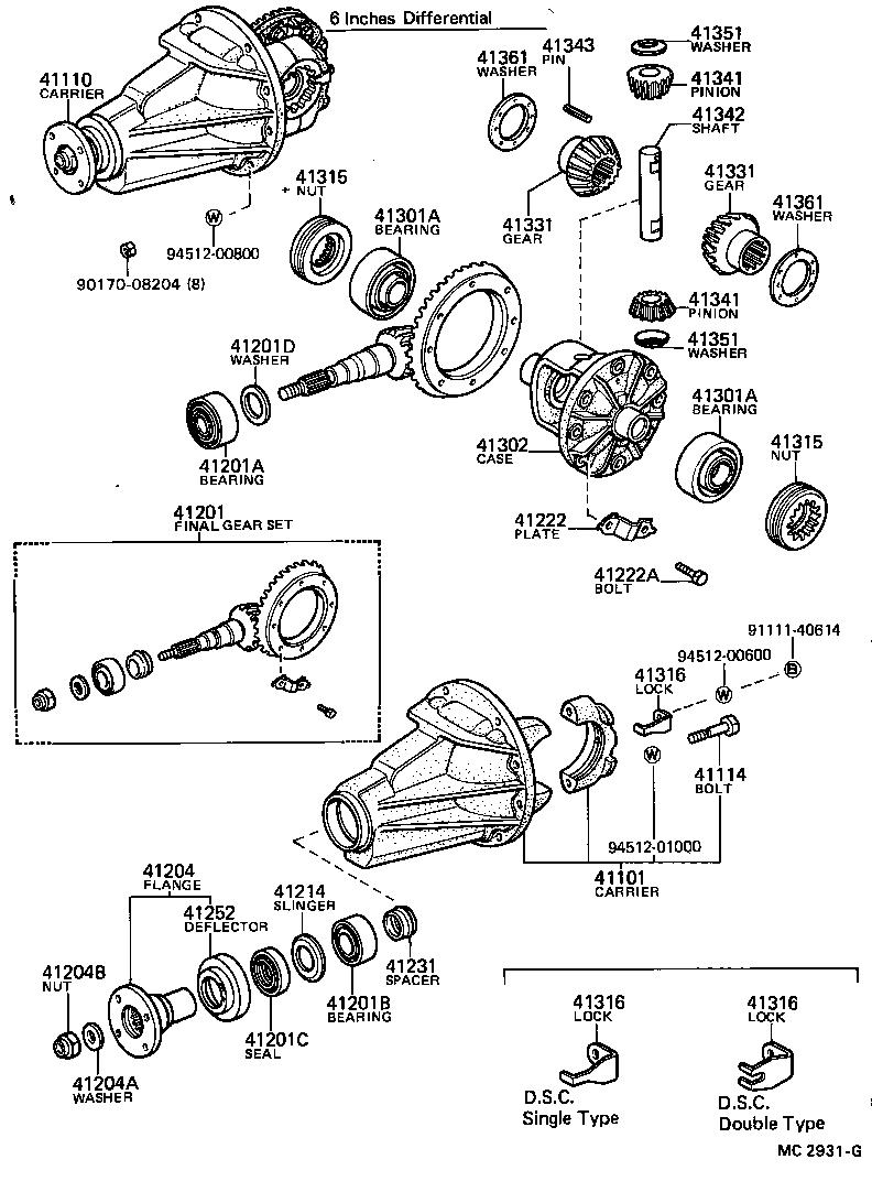 toyota corollake70-eskds - powertrain-chassis