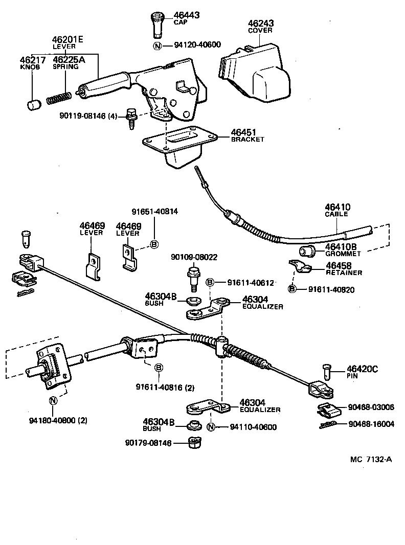 service manual  how to adjust handbrake on a 1997 land