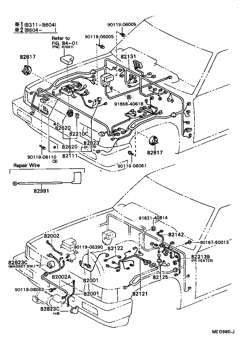 toyota hiluxln65-ms - electrical
