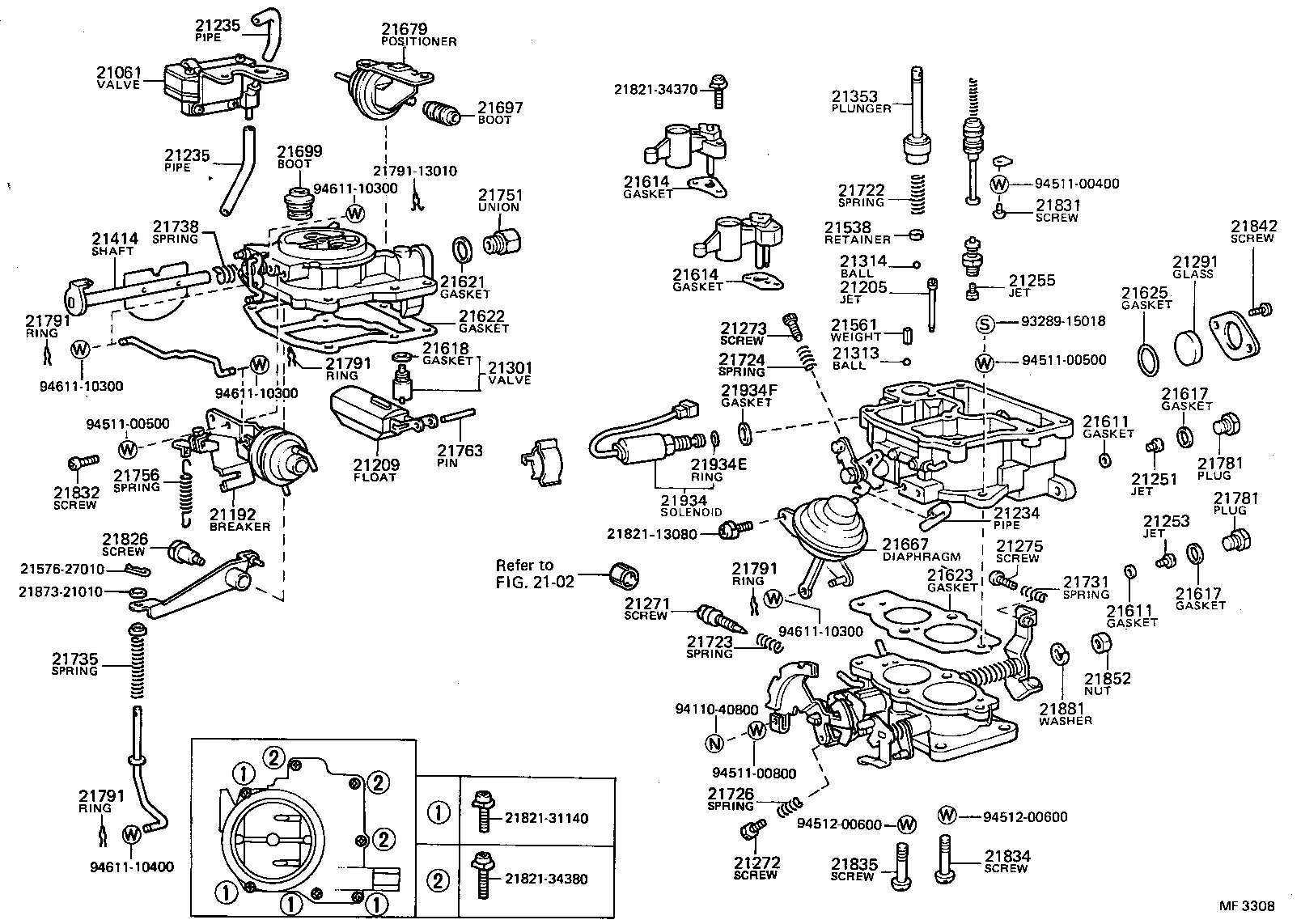 1989 toyota corolla carburetor diagram