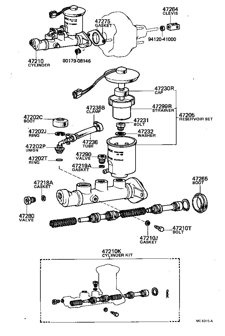 toyota sprinterke70-flmes - powertrain-chassis