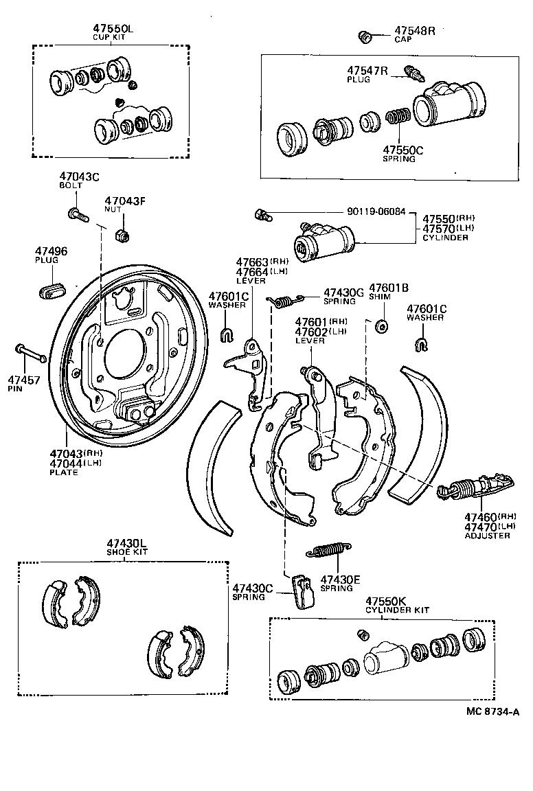 Rear Wheel Cylinder FOR Toyota Corolla Sprinter AE95 1987-1995 JB2770