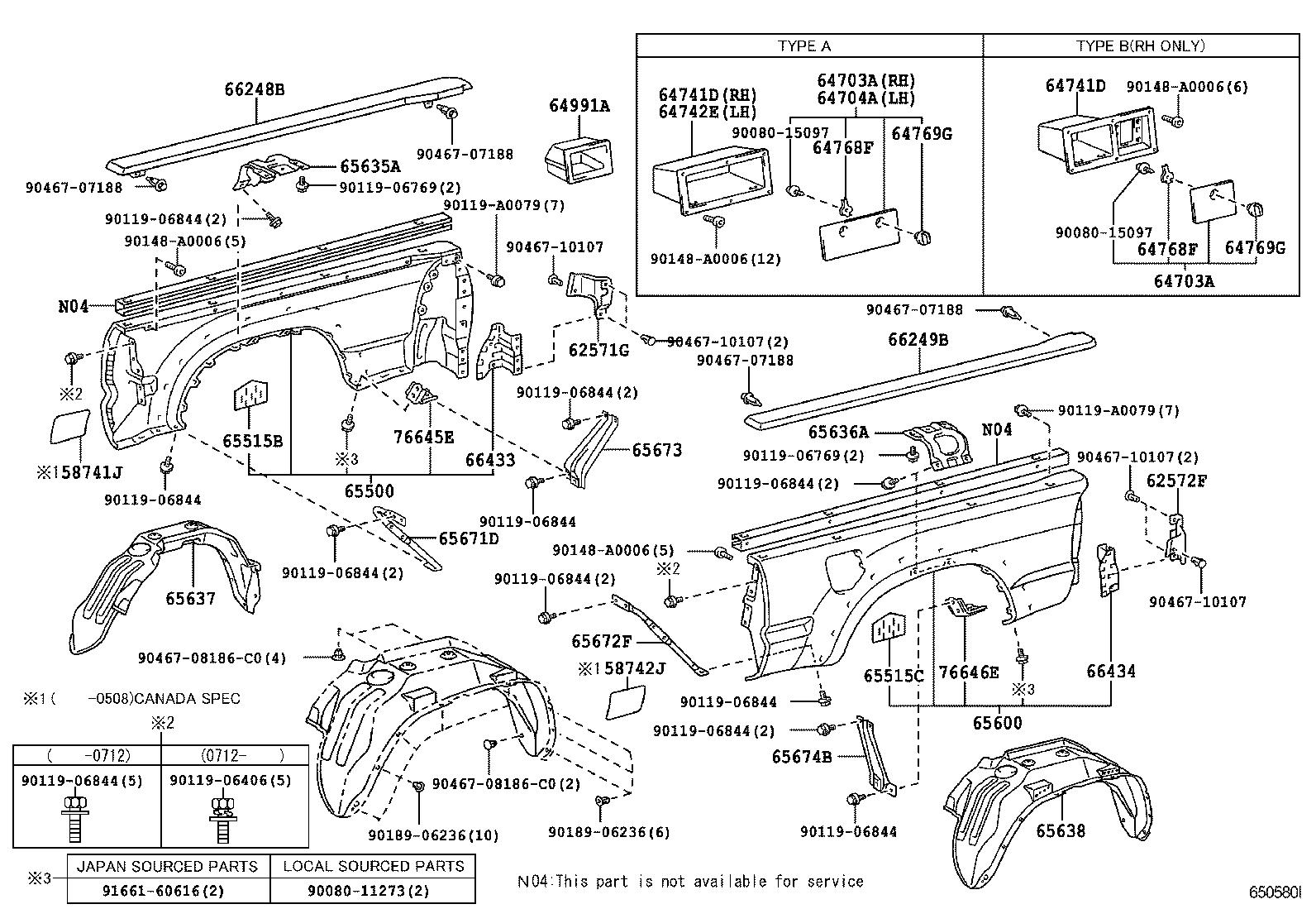 30 Toyota Tacoma Body Parts Diagram