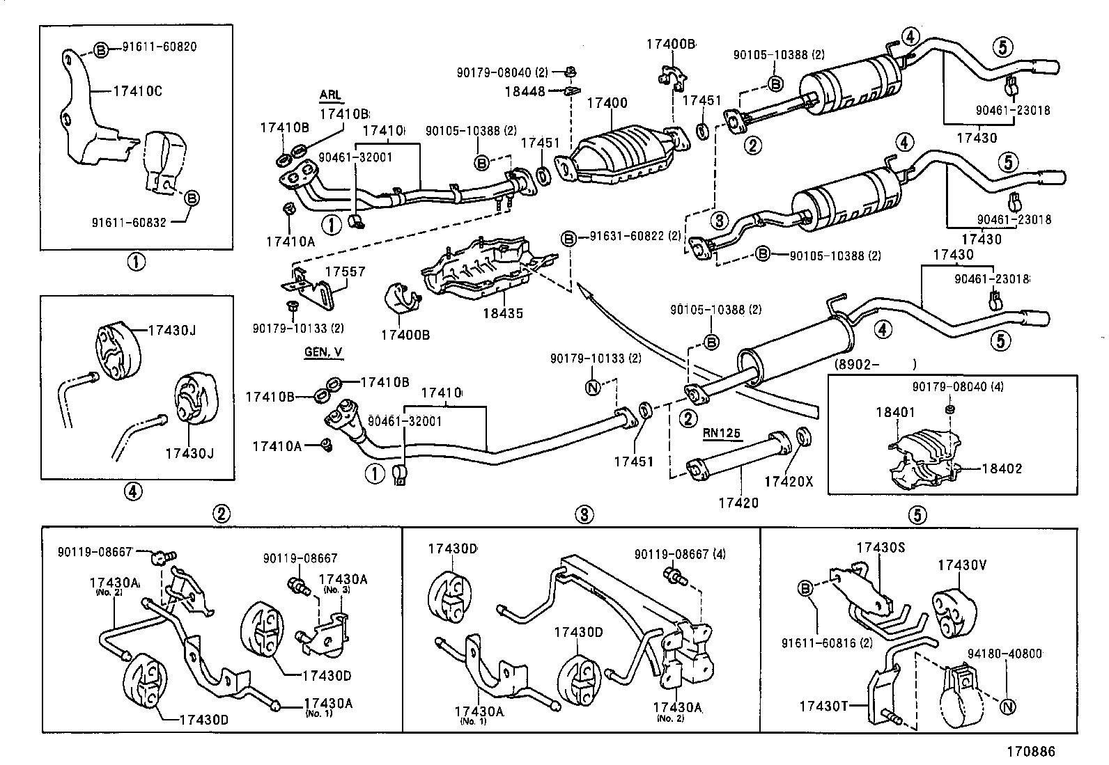 1993 toyota previa parts diagram