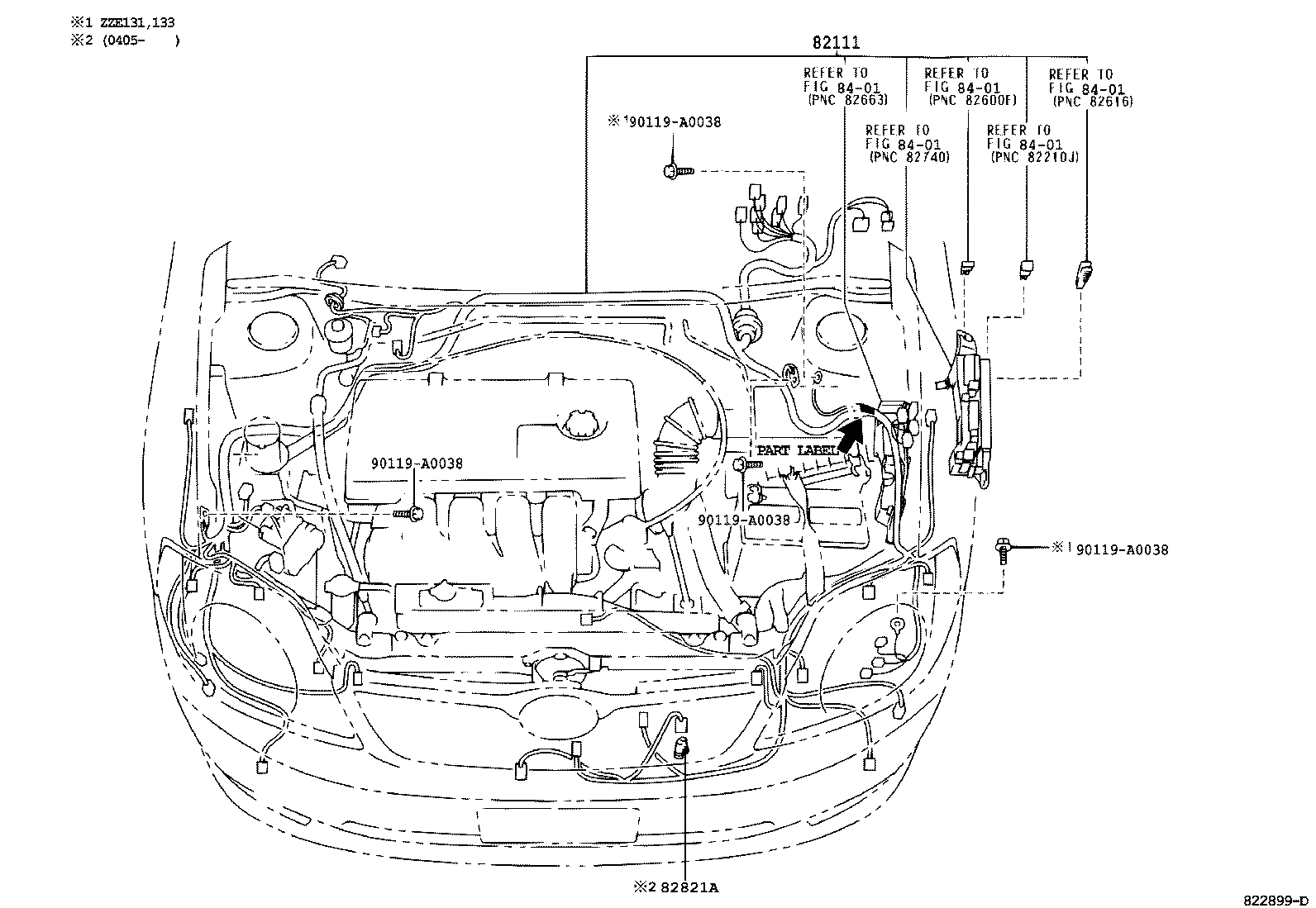 toyota corolla matrix napzze130l-depnka - electrical